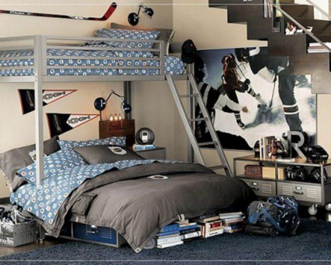 Серая комната для подростков