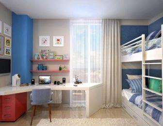 Интерьер небольшой детской комнаты