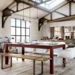 Открытая кухня в стиле лофт