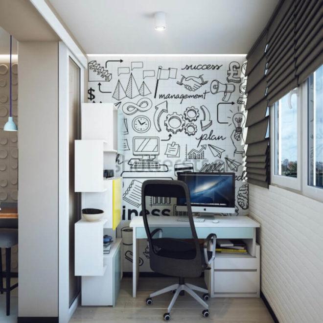 Квартира-студия с лоджией
