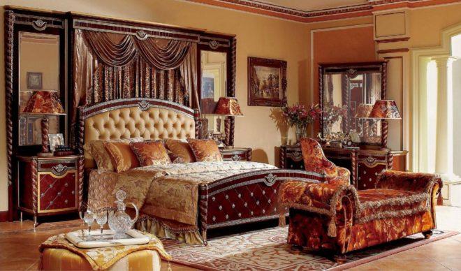 Мебель в обстановке стиля ампир