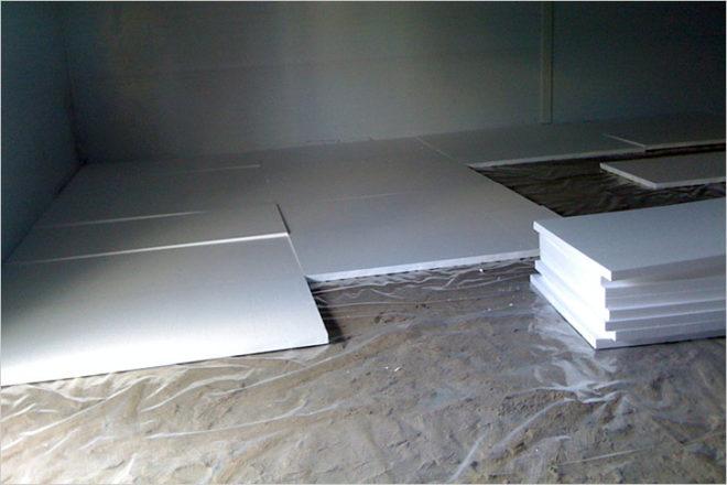 Утепление пенопластом под бетонную стяжку
