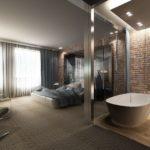 Отделение ванной комнаты от спальни