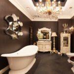 Гламурная ванна в современном стиле