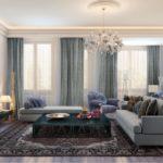 Оформление гостиной в серых тонах