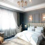 Неоклассическая спальня с элементами английского стиля