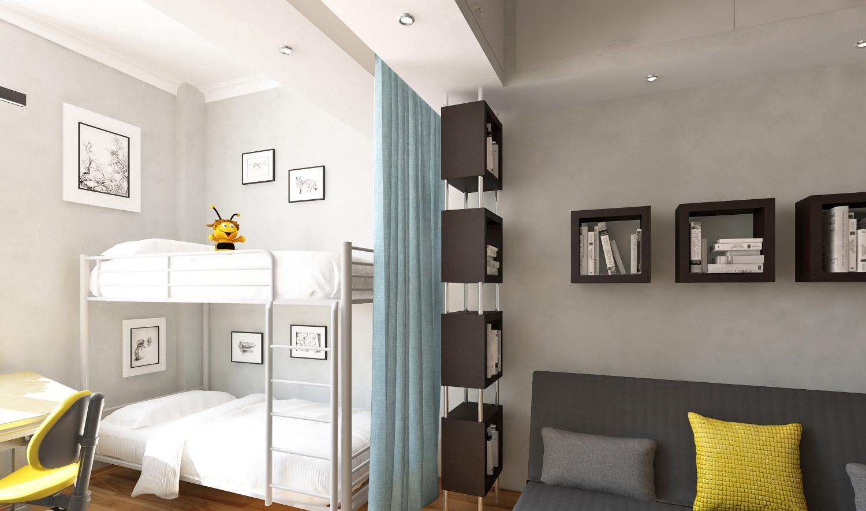 Как сделать комнату детскую и гостиную