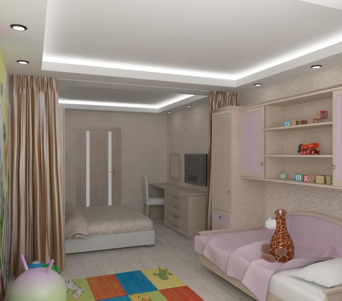 фото мебелью родителей зонирование ребенка комнаты для и