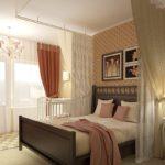 Общая спальня с вуалью