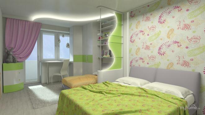 Спальня для родителей и школьника в одной комнате