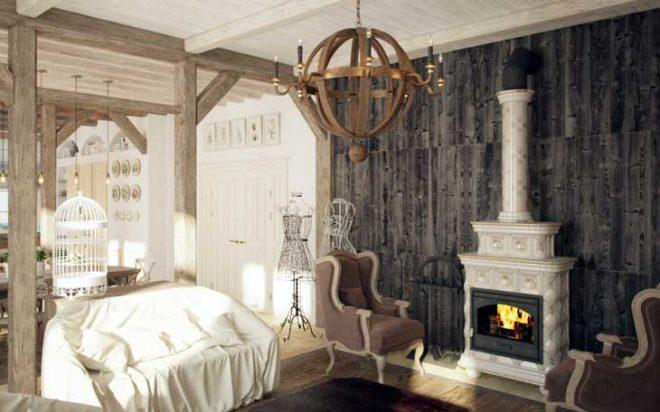 Стиль прованс в интерьере гостиной