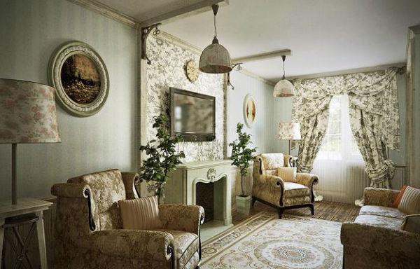 Интерьер гостиной в стиле прованс — французский шик в современной квар...