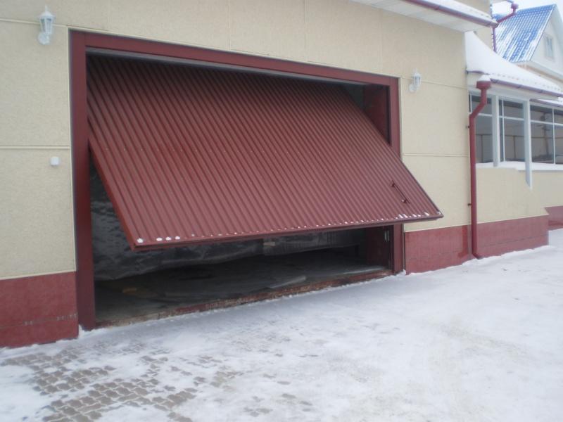 Ворота в гараж подъемные своими руками из профиля 76
