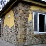Дом с необычным оформлением