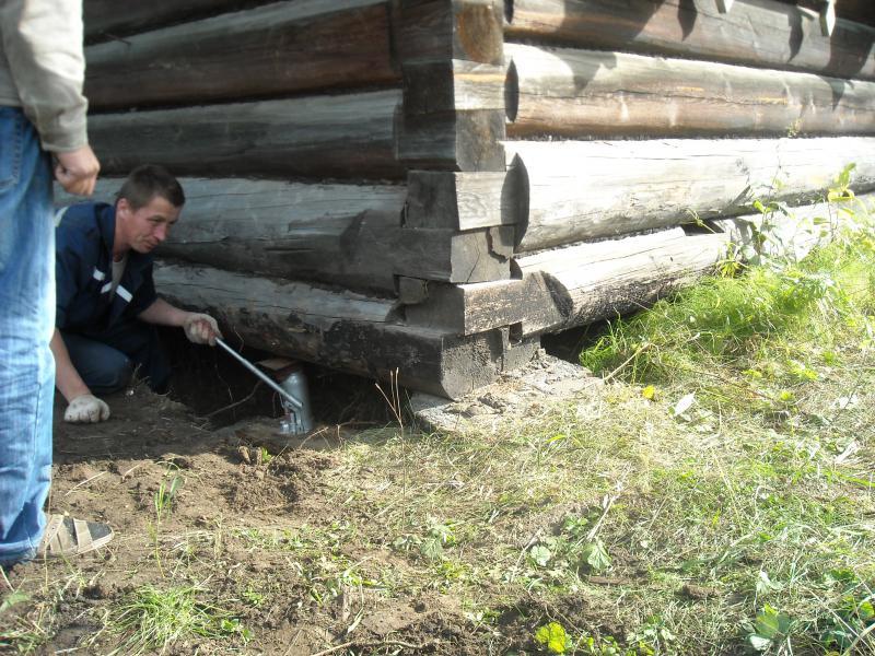 Как сделать фундамент под готовым домом 79