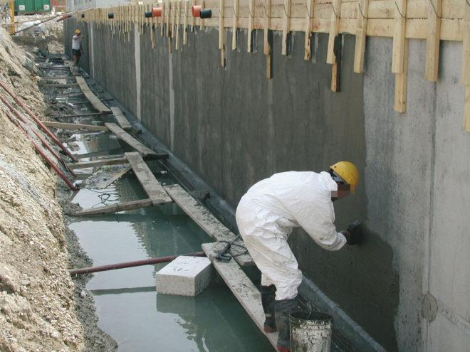 Проникающая гидроизоляция на фундаменте