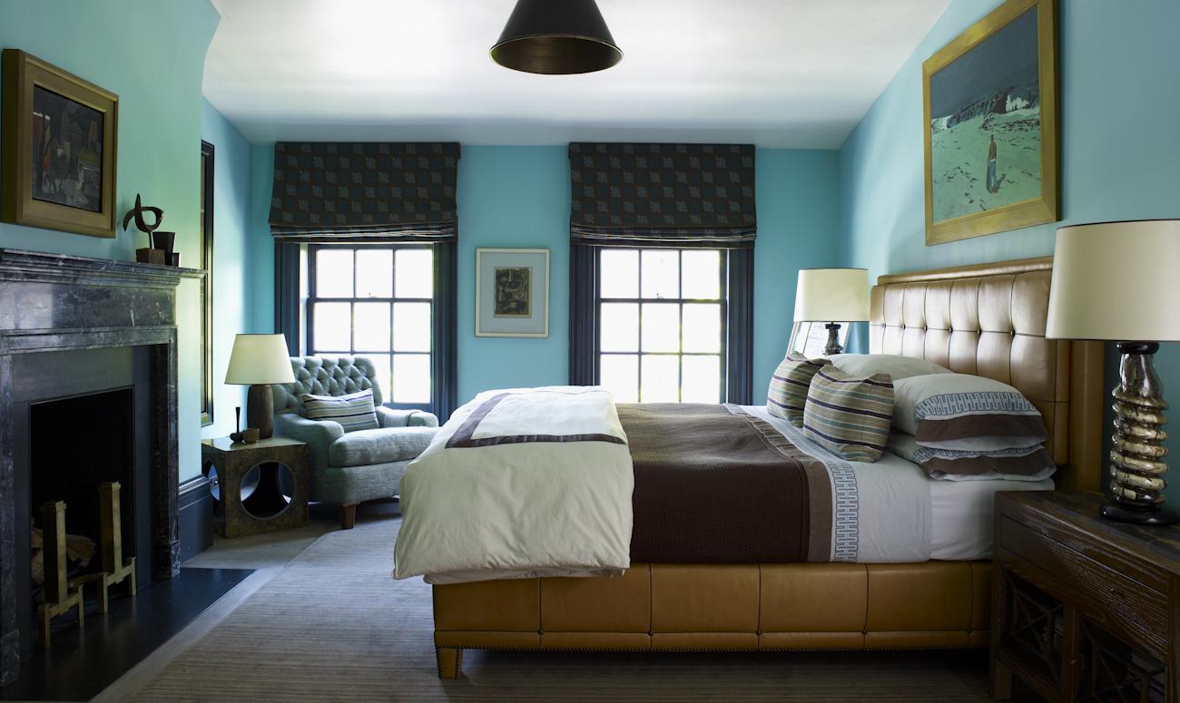 Turquoise bedroom
