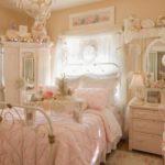 Персиковая спальня в стиле шебби