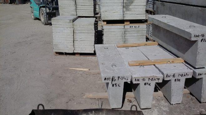 Фундаментные блоки с увеличенной подошвой