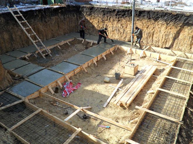 Опалубка для бетонной подложки