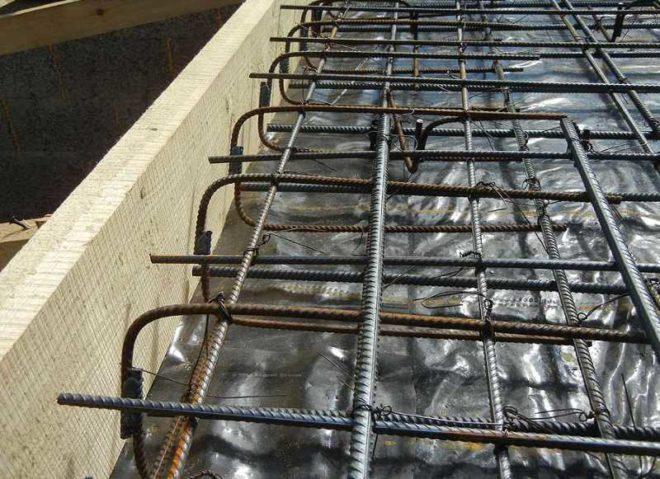 Армирование плитного основания