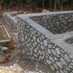 Бутовый фундамент под дом на склоне