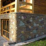 Бутовый фундамент дома на склоне