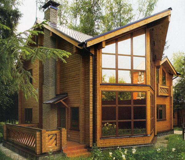 Лёгкий деревянный дом