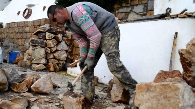 Обработка бутового камня