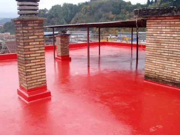 Окрасочная гидроизоляция крыши гаража