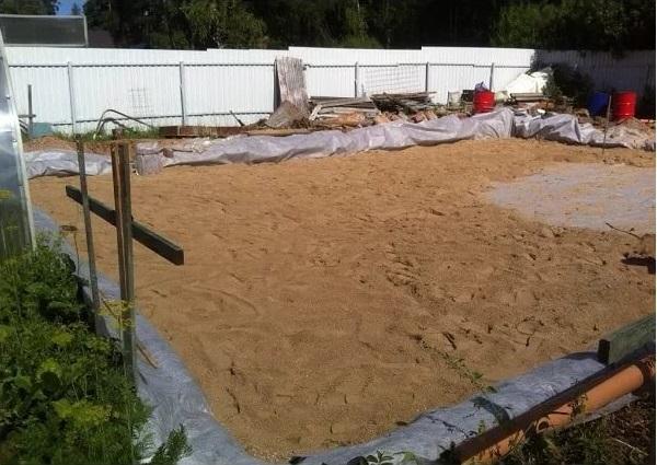 Песочная подсыпка