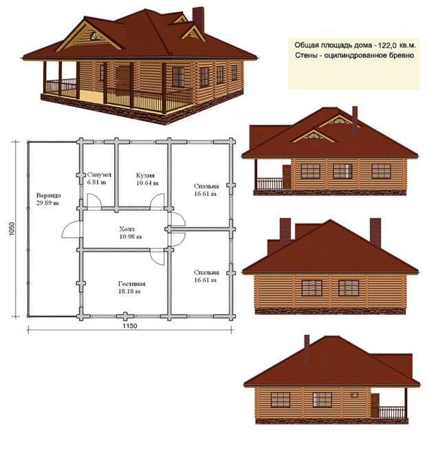 Рисунок планируемого дома