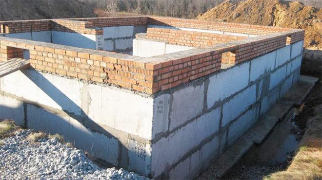 Сборный ленточный фундамент из блоков