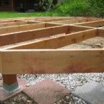 Столбчатый фундамент из бруса