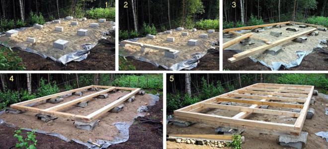 Строительство фундамента на бетонных блоках