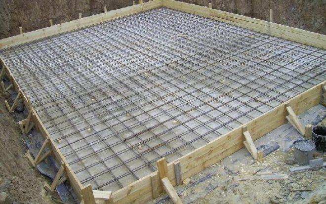 Армирование бетонной плиты