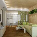 Экологический стиль в оформлении гостиной