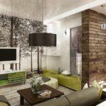 Гостиная в экологическом стиле
