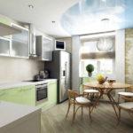 Единое пространство кухни и лоджии