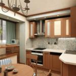 Объединение кухни и лоджии