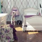 Комната в нежно-сиреневом цвете