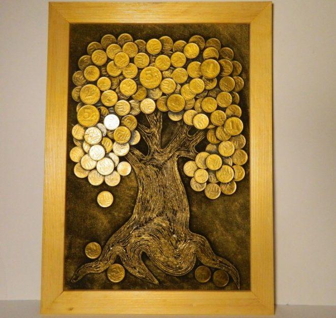 панно на стену своими руками из монет