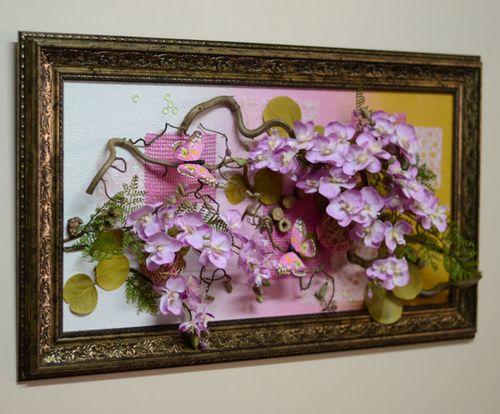 Панно на стену своими руками из цветов