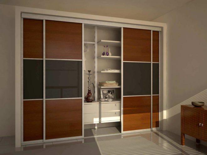 Двери-купе в гардеробной