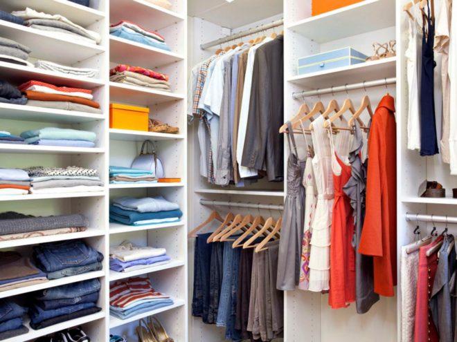Средняя зона гардеробной