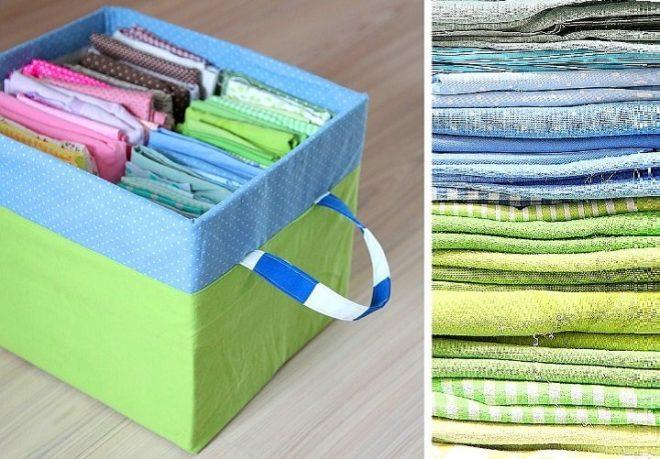 Ящички для хранения полотенец и платков