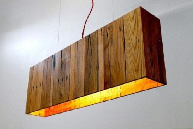 Светильник из дерева в стиле Natural
