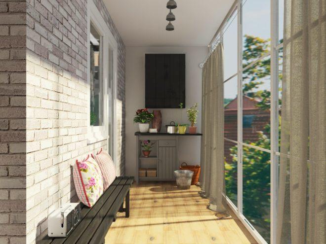 отдела балкона