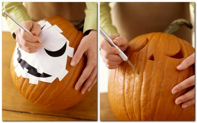 Украшение тыквы на Хэллоуин своими руками