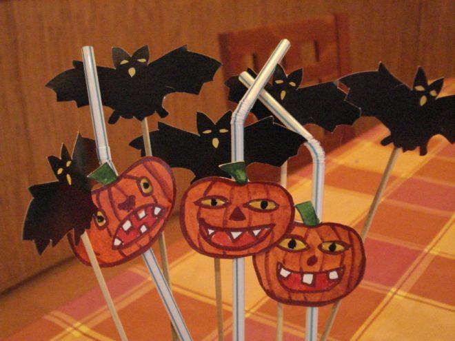 Трубочки для коктейлей своими руками на Хэллоуин